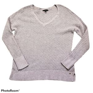 American Eagle Outfitters lilac vneck knit top